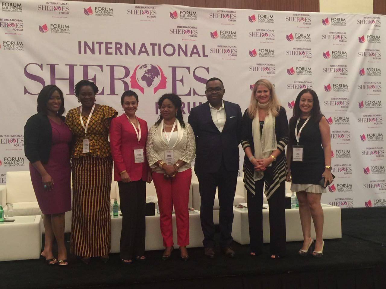 Panelists at SHEROES International Forum, Dubai.