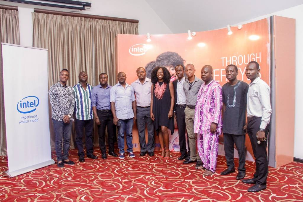 Journalist at the unveiling of She will connect Radio show and Bella Naija column.