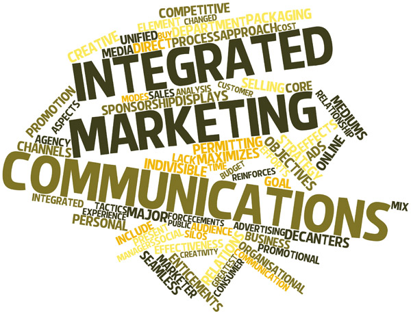 Abstract word cloud for Integrated marketing communications with related tags and terms